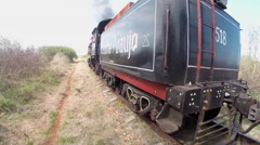 1875 Steam Train Ride at Sugar Factory - Cuba 1 Stock Footage