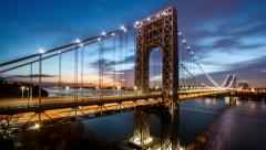 George Washington Bridge traffic - stock footage