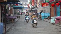 Yangshou street Stock Footage