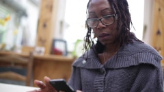 Mother On a Call With Smart Phone Stock Footage