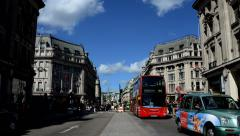 Timelapse of people and traffic crossing at Oxford Circus Stock Footage