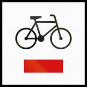 Regional Cycle Route In Poland - stock illustration