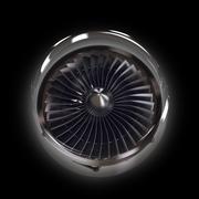Cross Section of Modern Airplane Jet Engine Turbine - stock illustration