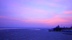 Sea Of Okhotsk, Hokkaido, Japan Arkistovideo