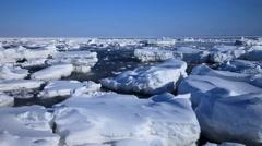 Sea Of Okhotsk, Hokkaido, Japan Stock Footage