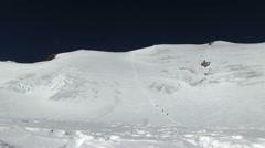 Climbers at mountain pass Stock Footage