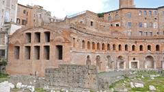 Trajan's market, Roma, Italy Stock Footage