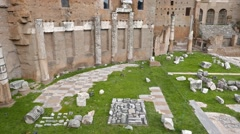 Foro di Augusto, Roma, Italy. 1280x720 Stock Footage
