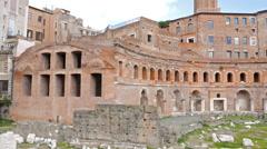 Trajan's market, Roma, Italy. 4K Stock Footage