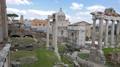 Roman Forum. Panorama. Rome, Italy Stock Footage