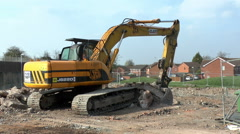 Tracked Excavator Stock Footage
