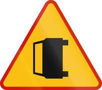 Stock Illustration of Accident Warning Poland