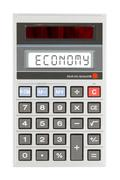 Stock Photo of Old calculator - economics