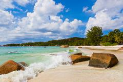 Beach Anse Lazio - Seychelles Stock Photos