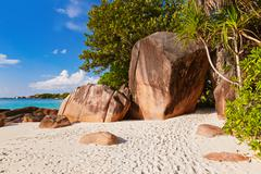 Stock Photo of Beach Anse Lazio - Seychelles