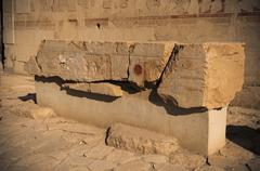 old egypt hieroglyphs carved on the stone - stock photo