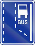 Stock Illustration of Start Of Bus Lane In Poland
