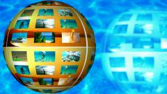 Summer tourist destination and vacation at sea - split screen Stock Footage