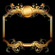 ornate frame - stock illustration