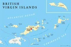 British Virgin Islands Political Map Stock Illustration