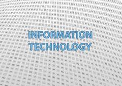Information technology generic background in flat design. - stock illustration