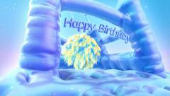 Happy birthday fun greeting Stock Footage