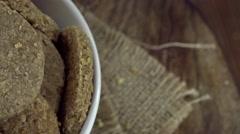 Oat Cookies (loopable 4K footage) Stock Footage