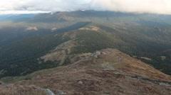 Mountain ridge Carpathians Stock Footage