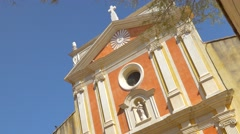 Catholic Cathedral in Antibes Stock Footage