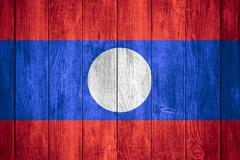 flag of Laos - stock illustration