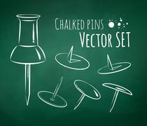 Chalkboard drawing Stock Illustration