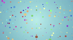 abstract yelllow background with flying dots - stock footage