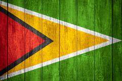 Stock Illustration of flag of Guyana