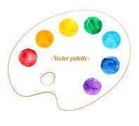 Artist palette Stock Illustration