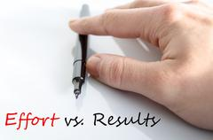 Effort vs. Results Concept Stock Photos