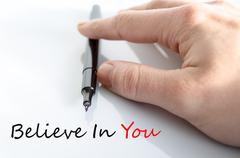 Believe In You Concept Stock Photos