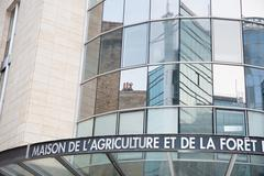 Stock Photo of A sign of the building of the house of agriculture and forest