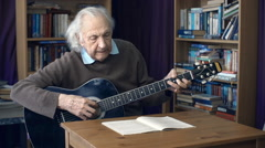 Old Musician - stock footage