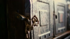 Reliable protection, padlock with a big chain (1) Stock Footage