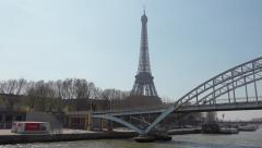 Eiffel Tower smooth vehicle shot - 60fps - stock footage