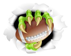 Football Claw - stock illustration