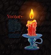 Burning candle Stock Illustration
