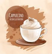 Cappuccino - stock illustration