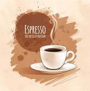 Espresso - stock illustration