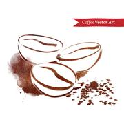 Coffee beans Stock Illustration