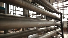 factory pipe, new technologies friendliness - stock footage