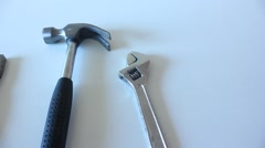 Hand tools, construction, building Stock Footage