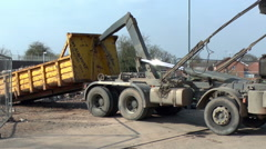 Lorry at Construction Site Stock Footage