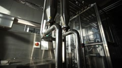 Factory pipe, new technologies friendliness biology Stock Footage