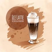 Latte - stock illustration